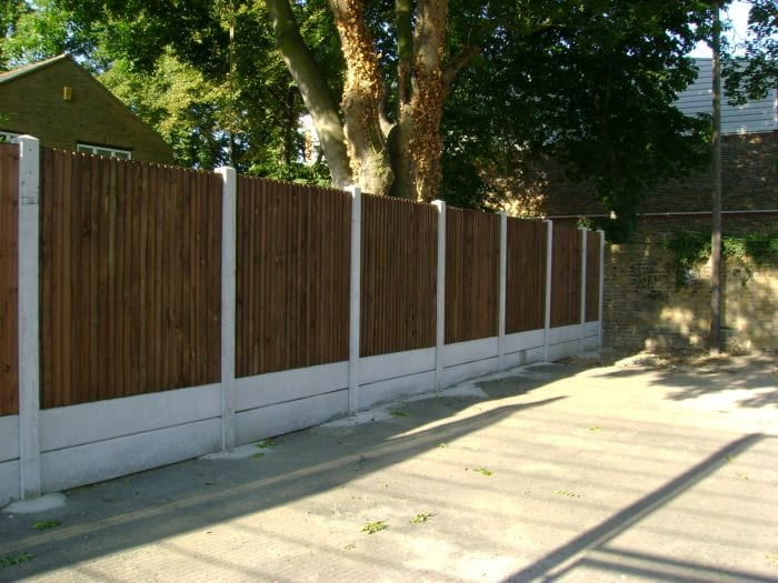 Timber Closeboard Fencing – Stratford School London