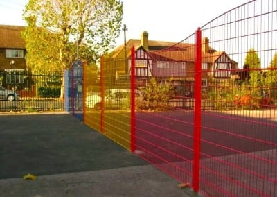 Welded Mesh Fencing London – Timbercroft Primary School London