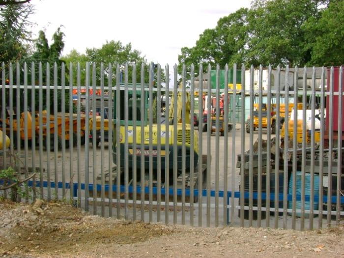 Steel Palisade Fencing Essex – J Matthews Plant Hire Ongar Essex