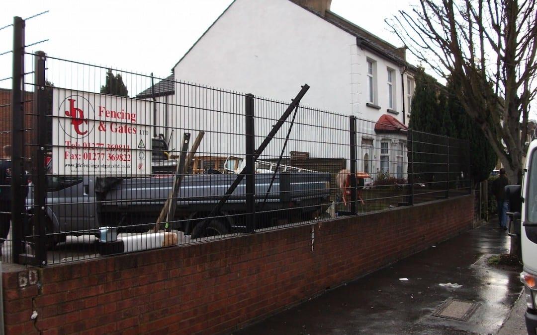 St John Ambulance Wire Mesh Fence and Gates Croydon London