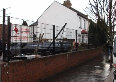 St John Ambulance Wire Mesh Fence and Gates Croydon London