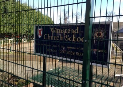 Twin Wire Mesh Fencing – Wanstead Church School