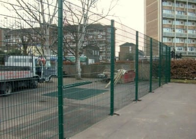 Wire Mesh Ballcourt Fencing London – Normand Croft School – West Kensington London