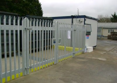 Steel Palisade Fencing – Windsor Waste Management – Brentwood Essex