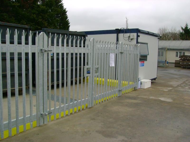 Steel Palisade Fencing – Windsor Waste Management – Brentwood Essex